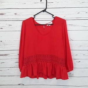 Umgee peasant blouse top size L